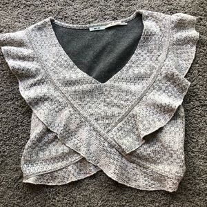 UO top with a ruffle sleeve and tie back